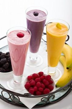 Healthy Protein Smoothies with ice perfect for summer snack