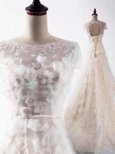 c91f800af0 2018 A-line Long Prom Dresses Nateau Applique Prom Dress Evening Dresses  AMY419