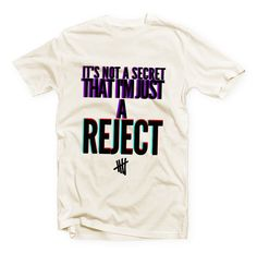 7c12e2f259d0 IVO-490 - Ivory Tshirt - It s not a secret that I m just a REJECT - 5SOS - 5  Seconds of Summer - Cotton Blend Fashion T-Shirt on Etsy