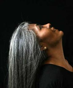 This from a website on going gray. Beginning, growing out, and end pictures. Inspiring!