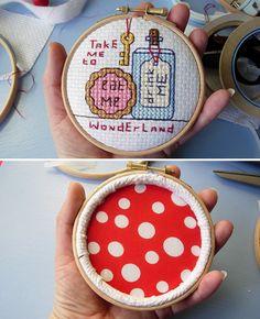 padded embroidery hoop - looks cute!
