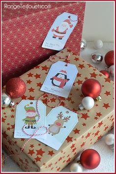 Étiquettes pour petits paquets cadeaux [Printable] | Range tes jouets !