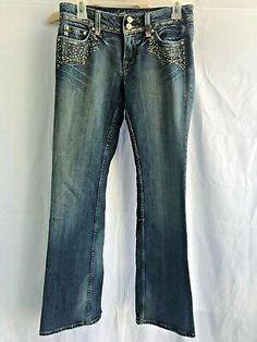Miss Me Women's Jeans Blue Medium Wash Metallic Accents Bootcut Size 28 Women's Jeans, Best Deals, Metal, Blue, Fashion, Moda, Fashion Styles, Fasion