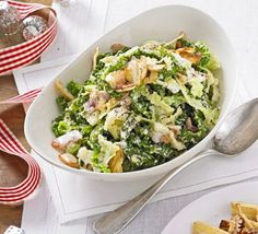 Give your side dish an Italian twist by mixing tender Savoy with smoked bacon, garlic, cream and Parmesan