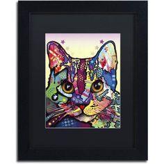 Trademark Fine Art Maya Cat Canvas Art by Dean Russo, Black Matte, Black Frame, Size: 11 x 14