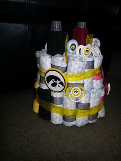 The Iowa side of the diaper cake!