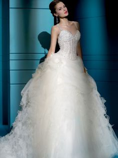Demetrios wedding gowns & dresses makes luxury affordable. Explore all of our wedding gowns & evening dresses collections and find a store near you. Most Beautiful Wedding Dresses, Elegant Wedding Gowns, Designer Wedding Gowns, White Wedding Dresses, Wedding Dress Styles, Tulle Wedding, Wedding Hair, Dress Hairstyles, Tulle Dress