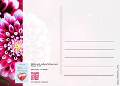 Rückseite der Postkarte: Schweigend sitzen sie beim Essen Liebesgedicht