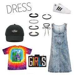 """""""Rabbit Hole"""" by katherine-lariscy ❤ liked on Polyvore featuring Topshop, Vans and adidas"""