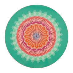 Buy Avenida Home Round Folk Stripe Placemat - Green | Amara