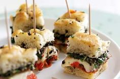 french party food recipes   50 quick and easy canapes - French cheese and focaccia canapes ...