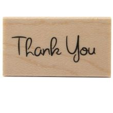 Recollections Wood Stamp, Thank You