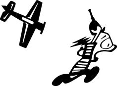 RC Airplane Chase Funny Decal in BLACK Yak Helicopter Sticker  450 500 600 Heli - http://hobbies-toys.goshoppins.com/radio-control-control-line-toys/rc-airplane-chase-funny-decal-in-black-yak-helicopter-sticker-450-500-600-heli/