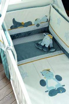 tour de lit bébé dragon Coffret repas Guss et Victor (4 pièces) par Noukie's | Repas  tour de lit bébé dragon