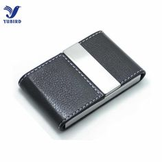 Big Capacity Business Name Card Holder Credit Card Holder Fashion Unisex Visit Card Case Metal Wallet PU Leather Solid Steel Box Leather Wallet, Pu Leather, Fashion Business Cards, Name Card Holder, Card Organizer, Credit Card Wallet, Id Holder, Business Card Holders, Name Cards