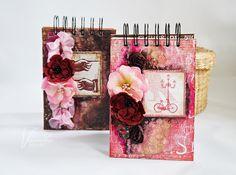 Odskocznia vairatki: Paryskie notesy mediowe Notebooks, Gift Wrapping, Scrapbook, Paris, Albums, Handmade, Gifts, Gift Wrapping Paper, Montmartre Paris