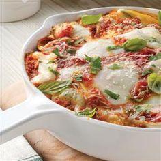 Galbani Skillet Lasagna Recipe -Recipe courtesy of Galbani Cheese