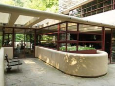 frank lloyd wright's falling waters house images | ... House): living room east terrace (1935-1937, architect Frank Lloyd