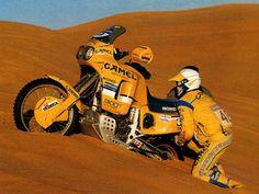 La Honda Africa Twin en una de sus últimas participaciones oficiales en el Dakar