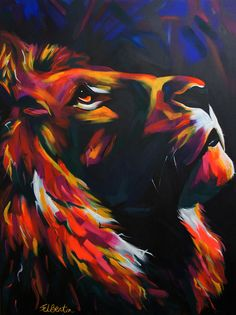 I'm a UK based artist specialising in vibrant portraits of animals and people. I work in a very instinctual way, not liking to plan too much what happens. I enjoy layering up colours in response to whatever strokes I have previously made on the canvas and seeing where it takes me.