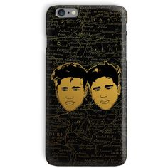 Martinez Twins Gold Phone Case (97 CHF) ❤ liked on Polyvore featuring accessories and tech accessories