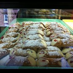 Cannoli at Missouri Baking Company, the Hill, St. Louis--my mouth waters at the thought/memory!