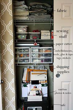 Craft room organization! #craftroom