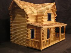 Want to experience the goodness of living in a country-style house and away from the city, and if you love hands-on, log cabin kits is the solution. Popsicle Stick Houses, Popsicle Stick Crafts, Craft Stick Crafts, Cabin Dollhouse, Dollhouse Kits, Doll House Plans, Log Cabin Homes, Log Cabins, Le Far West