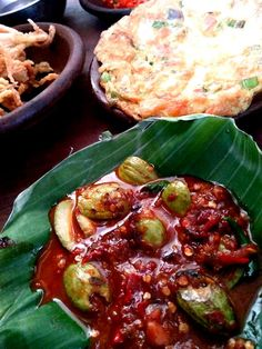 Sambal pete & telor dadar Indonesian food