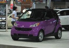 Purple smart car.
