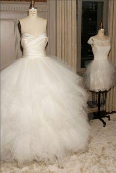 Marchesa Bridal via dreaming-among-roses Puffy Wedding Dresses, Wedding Dress With Veil, Dream Wedding Dresses, Wedding Wear, Bridal Dresses, One Shoulder Wedding Dress, Wedding Gowns, Wedding Bells, Matric Dance Dresses