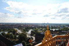 The view from the top of Vor Frelsers Kirke in Copenhagen.