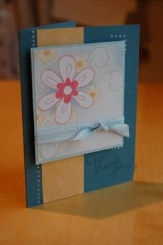 using Stampin Up Friendship Blooms