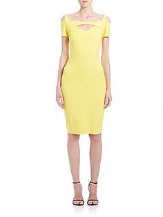 La Petite Robe di Chiara Boni Cold Shoulder Cutout Dress
