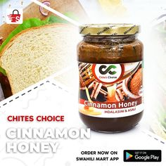 Cinnamon Honey - Asali iliyochanganywa na mdalasini Cinnamon Powder, Honey And Cinnamon, Red Grapes, Curry Powder, Chai, Beverages, Stuffed Peppers, App, Website