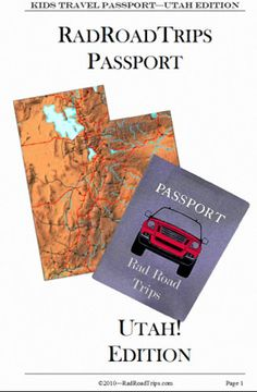 Utah! Kids Travel Passport