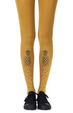 2361749543c60 If You Like Piña Coladas Mustard Tights - Lazy Caturday - Fun and Unique