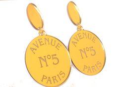 ORECCHINI PLEXI ORO parigi perno pendenti dorati di SissiHand