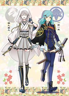 Page 3 Read Kiếm trai thành gái from the story Touken Ranbu by (Ayami Yuki) with reads. Anime Art Girl, Manga Girl, Anime Demon, Manga Anime, Touken Ranbu Characters, Royal Clothing, Anime Dress, Anime Costumes, Japanese Outfits