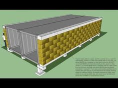 container home insulated with straw bales = great idea! (Oh shut up! My two favorite design concepts wrapped up into one!!!)