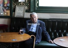 """Former gangster """"Mad"""" Frankie Fraser pictured at his local pub in south London. 14 June 2013. Philip Coburn/Sunday Mirror"""