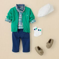 I just love the classy simple look for a boy:)