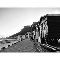 Colourful Huts in Black & White - Chris Cunnington ©