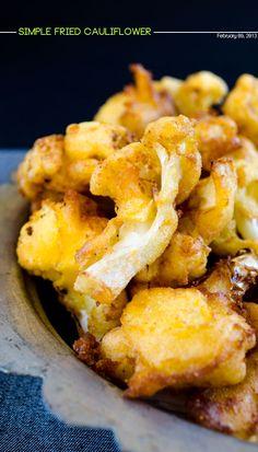 Simple spicy fried cauliflower | giverecipe.com | #cauliflower