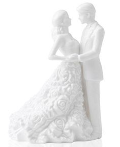 Monique Lhuillier Waterford Cake Topper, Modern Love Bride and Groom - Collectible Figurines - for the home - Macy's