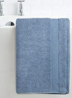 Blue Cotton & Co marl bath towel - towels  - Home, Lighting & Furniture