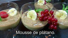 Mousse de plátanos