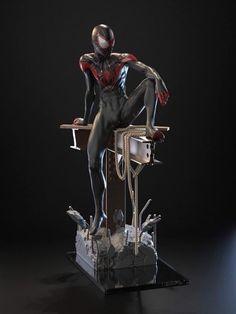Marvel Vs, Marvel Heroes, Marvel Characters, Marvel Comics, Miles Morales Spiderman Costume, Rogue Comics, Great Works Of Art, Spider Verse, Marvel Cinematic Universe