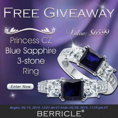 Click to enter the new giveaway   #BerricleGiveaway #jewelry #berricle #sapphirering #