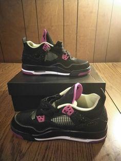 a8359ad24d6aba Nike Air Jordan 4 Retro 30th Black Fuchsia Size 5.5y